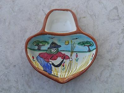 Portuguese Traditional Hand painted Bowl For Olives With Woman In The Harvest