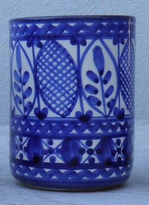 Portuguese Traditional Blue Hand Painted Ceramic Cup