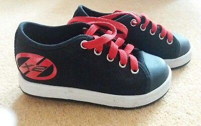 Black and red Heelys size 12