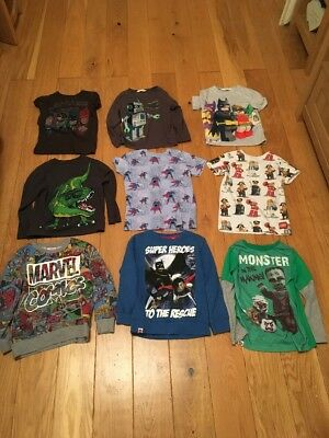 Boys Lego/marvel Bundle 10 Items NEXT/JOHN LEWIS/ GAP Age 5-6
