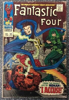 Fantastic Four #65 (1967) 1st Appearance Of The Kree & Ronan The Accuser.