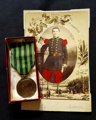 Original set French Medal 1870-1871 Franco-Prussian War box Soldier picture 1870