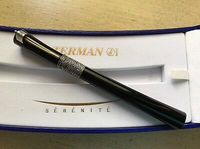WATERMAN SERENITE BLACK ROLLERBALL PEN Exceptional Condition