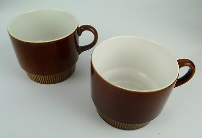"Poole Pottery Compact Series – 2 x Breakfast Cups 2 ¾"" (74mm) High Chestnut"
