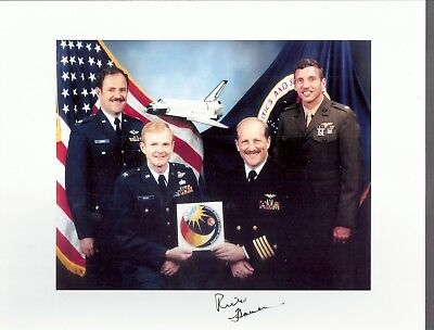AUTOGRAPH, HAND SIGNED STS-61F   Astronaut  FRED HAUCK, CANCELLED MISSION