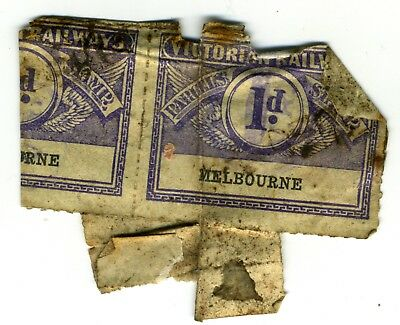 Lucky Dip - Victorian Railway Stamps - (2 stamps stuck together)