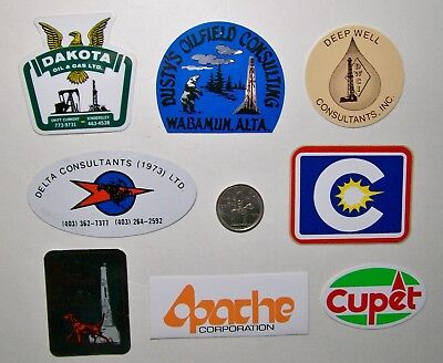 8 Oilfield Hard Hat Stickers / Oil & Gas Consulting