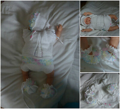 reborn specialist handknitted baby outfits