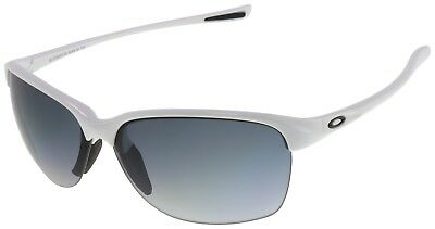 Oakley Women's Sunglasses OO9191-04 Unstoppable White w/ Grey Gradient Polarized