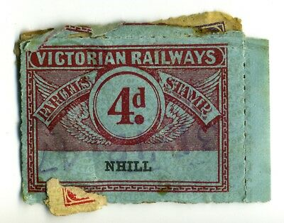 Lucky Dip - Victorian Railway Stamps - (4 stamps stuck together)