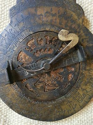 Vintage Antique Brass Persian Astrolabe Arabic islamic Navigation Astrological