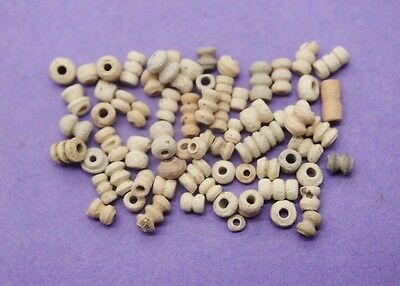 Collection of ancient Egyptian Coptic period terracotta beads 4th-7th century AD