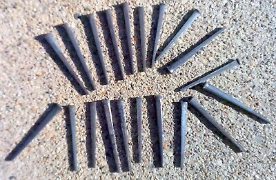 "3.5"" long Square head nails (24) in lot Antique wrought iron rustic vintage look"
