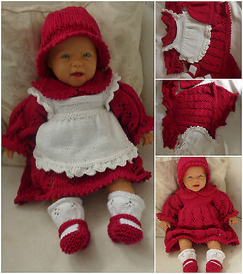 reborn specialist handknitted baby outfits - Baby  travelling in style pram set