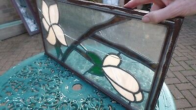 Stained Glass Panel Art Deco Style Leaded Window With Double Glazed Unit