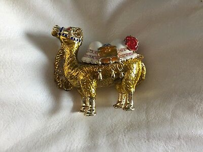 Enamel and rhinestone CAMEL trinket box in great condition
