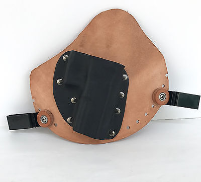 Genuine Leather For Small Caliber Automatic Gun Black Tan