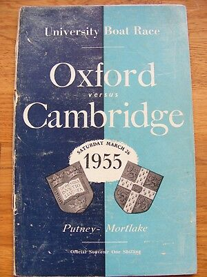 UNIVERSITY BOAT RACE OXFORD v  CAMBRIDGE 1955 PROGRAMME