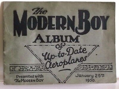 Original 1930's The Modern Boy Comic Album of Up-to Date Aeroplanes Stickers