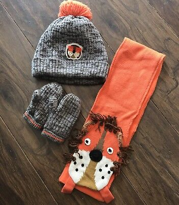 Boys Next Hat Gloves And Scarf Set 3-4 Years