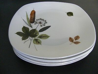 "6 x MIDWINTER STYLECRAFT ""RIVERSIDE"" PATTERN LARGE DINNER PLATES"