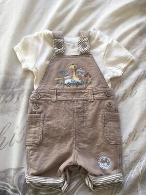 Baby Boys Clothes Dungaree Set 0-3 Months