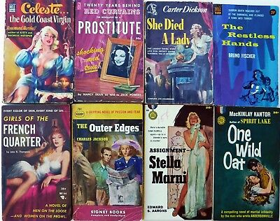 Vintage Paperbacks Lot of 8 Mysteries from 1950s, Dell Mapback, GGA