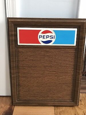 Vintage Pepsi Advertising Plastic Menu Sign Board Display Unused rare