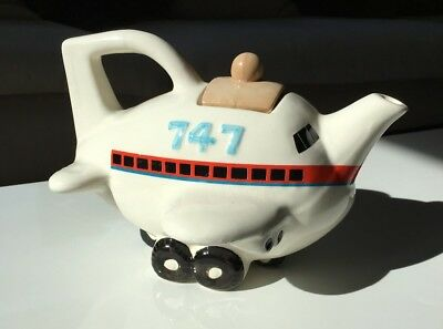 Novelty Charming Ceramic Boeing 747 Tea Pot
