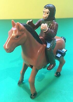 Vintage Planet of the Apes Chimp Warrior and horse wind up Toy
