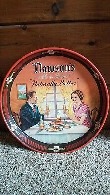 "Dawson's Ale & Beer Tray 11-3/4"" Red"