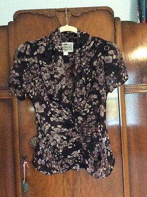 Collectif Blouse Top Size 6 Xxs Pin Up Vintage Style 40s