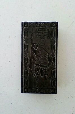 letterpress printing block. King Oswald.