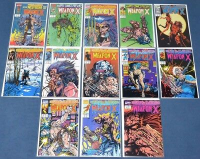 Marvel Comics Presents #72,73,74,75,76,77,78,79,80,81,82,83~Wolverine~Weapon X