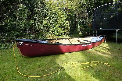 Mad River Royalex Courier Canoe Burgundy 14 Foot 7 Inch Two Seater