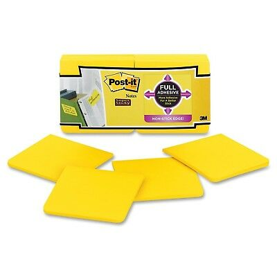 Post-it Super Sticky Full Adhesive Notes 3 x  3-Inches Electric Yellow 12-Pad...