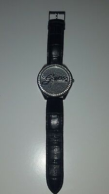 Men's guess leather watch