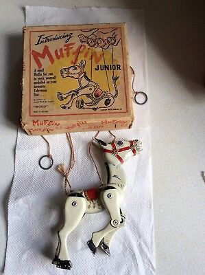 Original Metal Muffin The Mule String Puppet, Made In England By Moko.