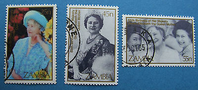 Zambia  Queen Mother PART SET FU NEVER HINGED CLEAN BACK