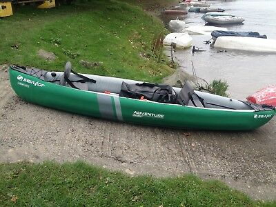 Sevylor Adventure Plus canoe, rucksack, jackets, paddles. RRP £440 new in 2016.