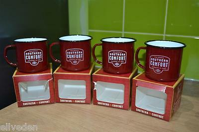 4x Limited Edition Southern Comfort Category Of One Enamel Camping Steel Mug Box