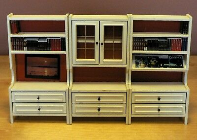 Vintage Lundby Dolls House Furniture : 1978 : White Wall Units
