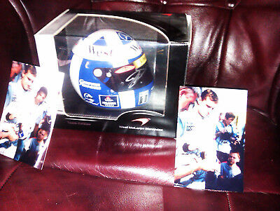 David Coulthard Mclaren 1/2 Scale F1 Helmet. Signed With Proof Pics. Boxed.