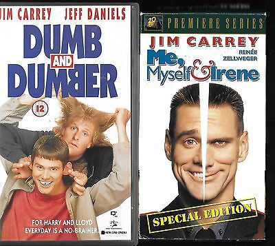 2 x VHS Tapes - Me, Myself & Irene  / Dumb Dumber with Jim Carrey