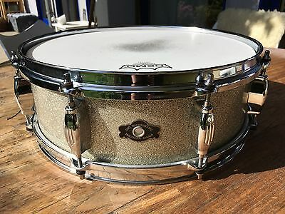 "George Way ""The Studio"" Snare 14x5 Silver Sparkle 2008 Rare! Worldwide Shipping!"