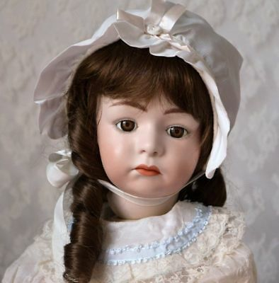 """Vintage Pouty Doll Antique Repro 23"""" German Character Heubach 7246 Compo Body"""