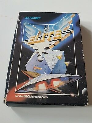 BBC Micro Elite Game Software, 5.25 disk, Boxed with Instructions