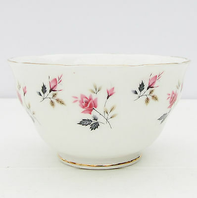 Vintage Royal Osborne Bone China Sugar Bowl Pink Roses