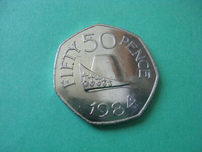 Channel Islands Guernsey Fifty Pence 50p Coin 1984