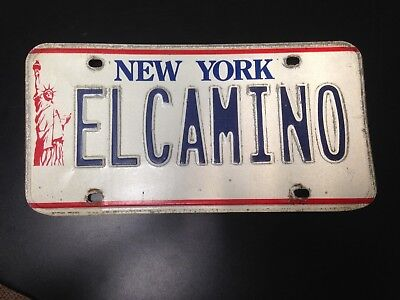 New York Liberty License Plate EL CAMINO